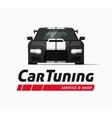 Car tuning shop banner sticker auto vector image