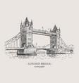 london bridge vintage vector image