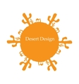 Desert sun concept image for your design vector image