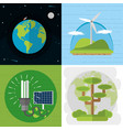 green energy on world vector image