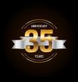 35 years anniversary celebration logotype golden vector image vector image