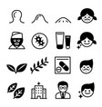 acne icons vector image