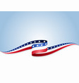 american flag wavy abstract background vector image vector image