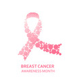 awareness pink ribbon vector image