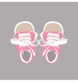 Baby shoes vector image