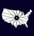 bicycle tyre in america map for t shirt design vector image vector image