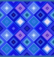 blue abstract diagonal square tile mosaic pattern vector image vector image