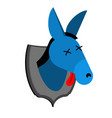 blue donkey hunter trophy democrat in office of vector image vector image