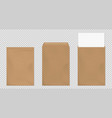 brown envelope a4 template blank paper covers set vector image
