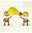 Business man get idea businessmen holding a light vector image vector image