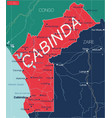 cabinda country detailed editable map vector image vector image