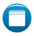 calendar icon blue vector image