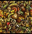 cartoon doodles africa seamless pattern