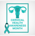 cervical health awareness month logo vector image vector image