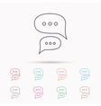 Chat icon Comment message sign vector image vector image