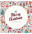 christmas and new year hand drawn cute holiday art vector image vector image