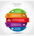 circle infographic template for business vector image vector image