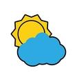 cloud sun weather sky season icon graphic vector image vector image