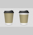 coffee cup isolated blank paper coffee cup mockup vector image vector image