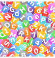colorful letters seamless background vector image