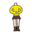 comic cartoon female body add photos or mix and vector image vector image