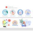 coronavirus prevention icon and symbol set covid vector image