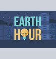 earth hour banner vector image