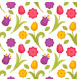 easter holiday spring flowers tulips seamless vector image