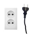 electric adapter with two plug vector image