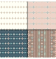 Ethnic seamless pattern set vector image vector image