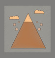 flat shading style icon mountain stones fall vector image vector image