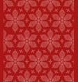 flourish snowflakes seamless pattern vector image