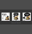 food and culinary social media promotion template vector image vector image