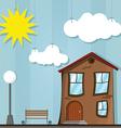 funny house cartoon vector image