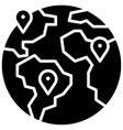 global location telecommuting or remote work icon vector image vector image