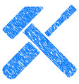 hammer screwdriver grunge icon vector image