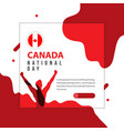 happy canada national day template design vector image