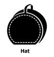 hat bag icon simple black style vector image