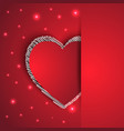 hearts shape romantic greeting card vector image vector image