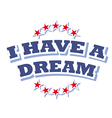 I have a dream logo symbol isolated vector image vector image