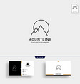 initial m mountain lineart logo template and vector image vector image