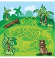 Labyrinth maze for kids vector image vector image