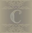 letter c monogram - vintage card vector image