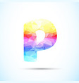 letter p logo icon vector image