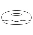 line art black and white donut side view vector image vector image