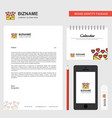 love letter business letterhead calendar 2019 and vector image vector image