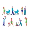 Married Couple with Children vector image