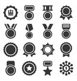 medal trophy and awards icons set vector image