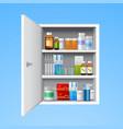 Medicine cabinet realistic vector image vector image
