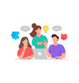 men and women discuss for creative ideas vector image